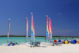 Sailing Rentals, Beach, Castaway Cay, Bahamas, Caribbean Photographic Print by Kymri Wilt