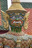 Buddhist Mythology Yaksa, Temple of the Emerald Buddha, Bangkok, Thailand Photographic Print by David R. Frazier