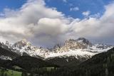 Rosengarten or Catinaccio Mountains, Schlern-Rosengarten, Dolomites, Italy Photographic Print by Martin Zwick