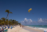 Parasailing, Bavaro, Higuey, Punta Cana, Dominican Republic Photographic Print by Lisa S. Engelbrecht
