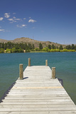 Jetty, Lake Dunstan, Cromwell, Central Otago, South Island, New Zealand Photographic Print by David Wall