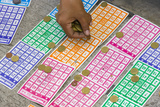 Playing Bingo, Baguio, Benguet Province, Philippines Photographic Print by Keren Su