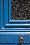 Blue Front Door to Building, Marais District, Paris, France Photographic Print by Brian Jannsen