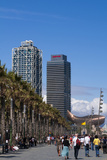 Hotel Arts and Mapfre Tower, La Barceloneta Beach, Barcelona, Spain Photographic Print by Sergio Pitamitz