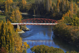 Clyde Bridge and Clutha River, Clyde, Central Otago, South Island, New Zealand Photographic Print by David Wall