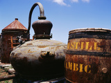 Old Barrel and Storage Tank, Saint Martin, Caribbean Photographic Print by Greg Johnston