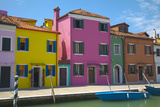 Bright Colored Homes Along Canal, Burano, Italy Photographic Print by Terry Eggers