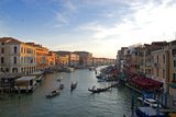 Bustling Riverfront Along the Grand Canal in Venice, Italy Photographic Print by David Noyes