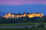 La Cite Carcassonne, Fortified Medieval Town, Languedoc-Roussillon, France Photographic Print by Brian Jannsen