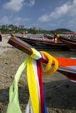 Fishing Boats in the Gulf of Thailand on the Island of Ko Samui, Thailand Photographic Print by David R. Frazier