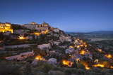 Twilight over Medieval Village of Gordes, Provence, France Photographic Print by Brian Jannsen