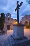 Wrought Iron Cross, Church, Place De Saint Vincent, Les Baux De-Provence, France Reproduction photographique par Brian Jannsen