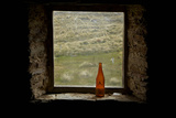 Window of Potters Huts, Old Man Range, Southland, South Island, New Zealand Photographic Print by David Wall