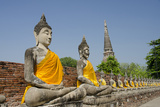 Buddha Statue, Wat Phra Chao Phya-Thai, Ayutthaya, Thailand Fotografisk tryk af Cindy Miller Hopkins