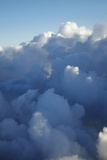 View from Plane of Clouds Near Sydney, New South Wales, Australia Photographic Print by David Wall