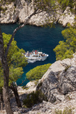 Tour Boat, Calanques Near Cassis, Bouches-Du-Rhone, Cote d'Azur, Provence, France Photographic Print by Brian Jannsen