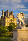 Statue in Jardin Des Tuileries with Musee Du Louvre Beyond, Paris, France Photographic Print by Brian Jannsen