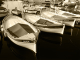 Wooden Fishing Boats, Riviera, Alpes-Maritimes, Villefranche-Sur-Mer, France Photographic Print by David Barnes