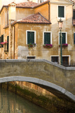 Small Bridge over a Side Canal in Venice, Italy Photographic Print by David Noyes