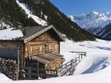 Wooden Mountain Hut, Valley Krimmler Achental, Hohe Tauern National Park, Austria Photographic Print by Martin Zwick
