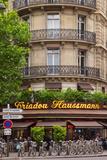 Sidewalk Cafe Along Haussmann Boulevard, Paris, France Photographic Print by Brian Jannsen