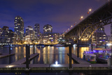 Granville Bridge, Vancouver, British Columbia, Canada Photographic Print by Walter Bibikow