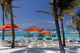 Umbrellas and Shade at Castaway Cay, Bahamas, Caribbean Photographic Print by Kymri Wilt