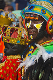 Performer, Santo Nino at Dinagyang Festival, City of Iloilo, Philippines Photographic Print by Keren Su