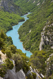 Rocky Cliffs and Turquoise Water, Gorges Du Verdon River Canyon, Provence, France Photographic Print by Brian Jannsen