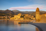 Dawn over Town of Collioure, Pyrenees-Orientales, Languedoc-Roussillon, France Photographic Print by Brian Jannsen