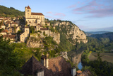 Sunrise over Saint-Cirq-Lapopie in the Lot Valley, Midi-Pyrenees, France Photographic Print by Brian Jannsen