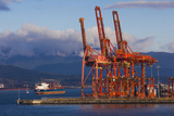 Cargo Cranes, Port of Vancouver, Vancouver, British Columbia, Canada Photographic Print by Walter Bibikow