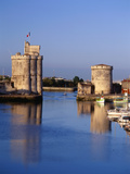 Vieux Port, Tour Saint-Nicolas, Tour De La Chaine, La Rochelle, France Photographic Print by David Barnes