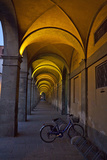 Evening and Lighted Arched Hallway, Lucca, Italy Photographic Print by Terry Eggers