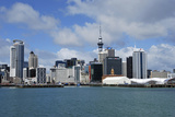 Skyline of Downtown Auckland, Auckland, New Zealand Photographic Print by Lynn Seldon
