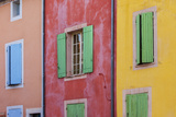 Colorful Wall of Windows in Roussillon, Provence, France Photographic Print by Brian Jannsen