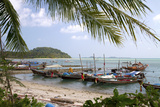 Fishing Boat in the Gulf of Thailand on the Island of Ko Samui, Thailand Photographic Print by David R. Frazier