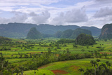 Limestone Hill, Farming Land in Vinales Valley, UNESCO World Heritage Site, Cuba Photographic Print by Keren Su