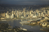 Sydney Cbd and Sydney Harbour, Sydney, New South Wales, Australia Photographic Print by David Wall