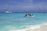Kayaking the Waters of Prickly Pear Island with Festiva Sailing Vacations Photographic Print by Lynn Seldon