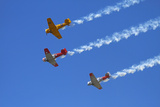 Aerobatic Display by North American Harvards, or T-6 Texans, or SNJ, Airshow Photographic Print by David Wall