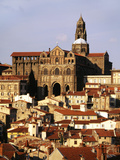 Cathedral Notre Dame, Haute Loire, Le Puy, France Photographic Print by David Barnes