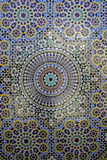 Mosaic Wall for Fountain, Fes, Morocco, Africa Fotografisk tryk af Kymri Wilt