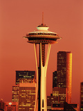 View of Space Needle and Seattle Buildings, Seattle, Washington, USA Photographic Print by Stuart Westmorland