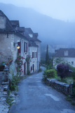 Dawn at Entry Gate to Saint Cirq Lapopie, Lot Valley, Midi-Pyrenees, France Photographic Print by Brian Jannsen