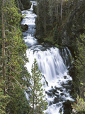 View of Kepler Cascades on Firehole River, Wyoming, USA Photographic Print by Scott T. Smith
