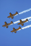 The Red Checkers Aerobatic Display Team with CT-4B Airtrainers Photographic Print by David Wall