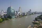 Downtown Bangkok Skyline View with Chao Phraya River, Thailand Photographic Print by Cindy Miller Hopkins