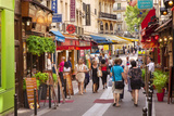 Shops and Tourists Along Rue Saint-Severin in the Latin Quarter, Paris, France Photographic Print by Brian Jannsen