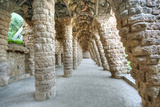 Park Guell Colonnaded Footpath, Barcelona, Spain Photographic Print by Rob Tilley